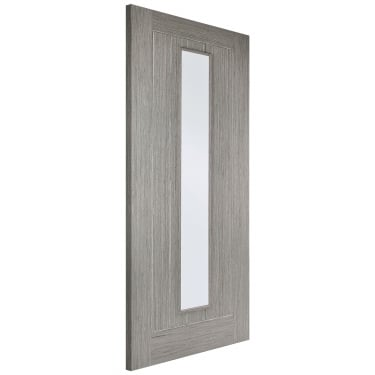 Internal Light Grey Fully Finished Somerset 1L Door with Clear Glass (LGRSOMGL)