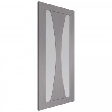 Internal Light Grey Fully Finished Verona 2L Door with Clear Glass (PFGLGVER)