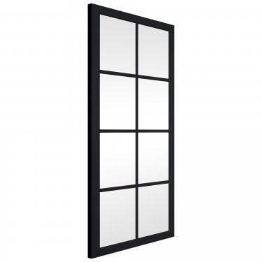 Internal Matt Black Fully Finished Slim-Line 8L Door with Clear Glass (BLSHAK8+GCF)