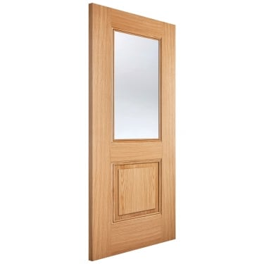 Internal Oak Fully Finished Arnhem 1L/2P Door with Clear Glass