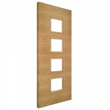 Internal Oak Fully Finished Augusta 4L Unglazed Solid FD30 Fire Door (AUGGF/DXFSC)
