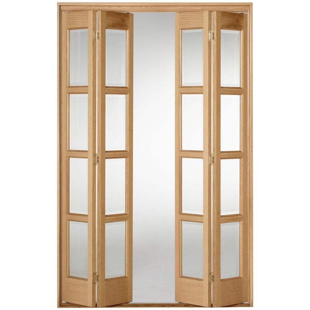 Liberty Doors Internal Oak Fully Finished Bardsley Folding Sliding