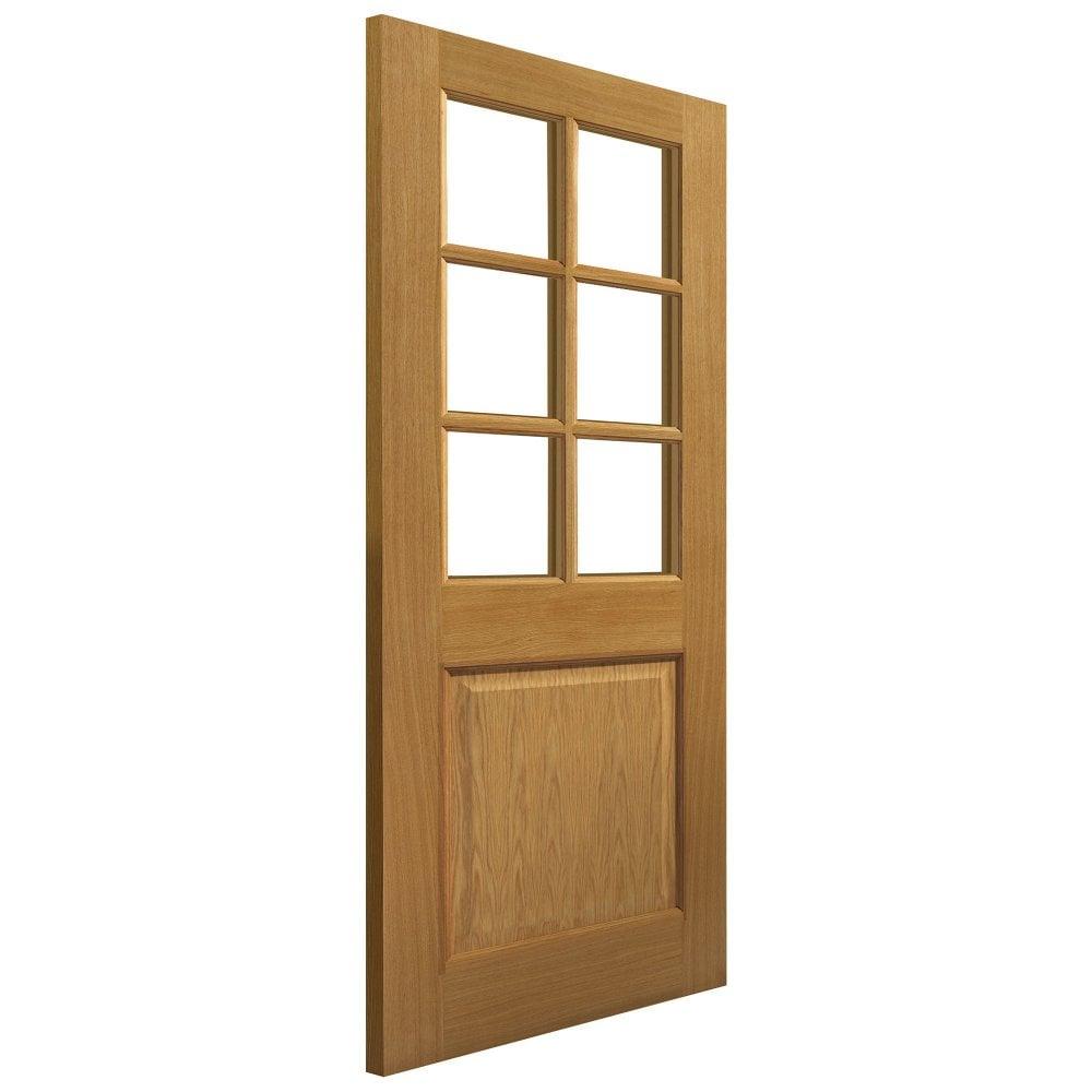 jb kind internal oak pre finished arden glazed door. Black Bedroom Furniture Sets. Home Design Ideas