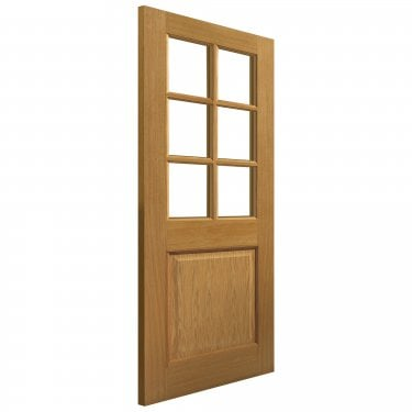 Internal Oak Fully Finished Classic Arden 6L Solid Door with Clear Glass (VSO6L1PG)