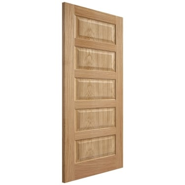 Internal Oak Fully Finished Contemporary 5P Door (PFOCON5P)