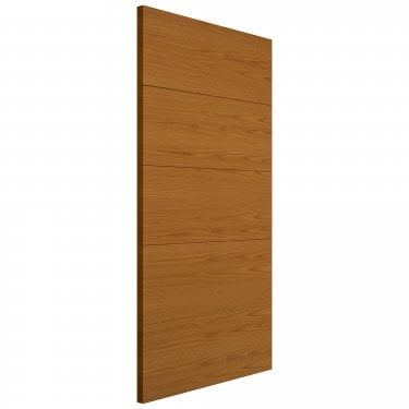 Internal Oak Fully Finished Contemporary Royale VT5 Solid FD30 Fire Door (VT5HH-O)