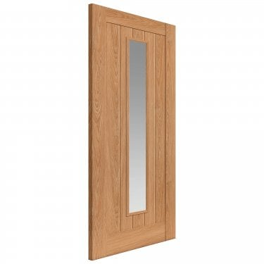 Internal Oak Fully Finished Laminate Hudson 1L Door with Clear Glass (LHUDG)