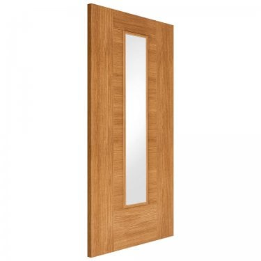 Internal Oak Fully Finished Laminate Ottawa 1L Door with Clear Glass (LAMOAKOTTGL)