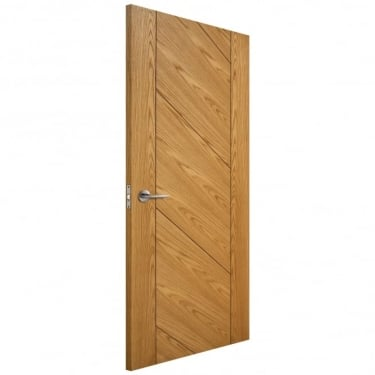 Internal Oak Fully Finished Monet FD30 Fire Door (LIBOAKMONFD)