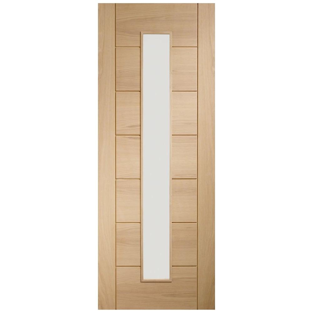 Xl Joinery Internal Oak Pre Finished Palermo Glazed Door Leader Doors