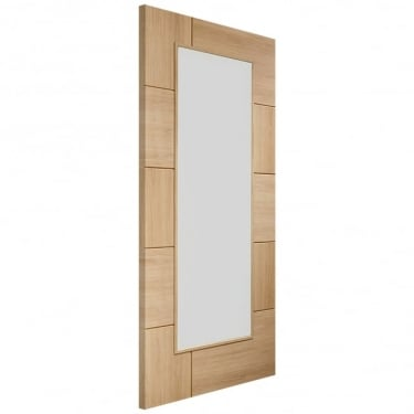 Internal Oak Fully Finished Ravenna 1L Door with Clear Glass (PFGORAV)