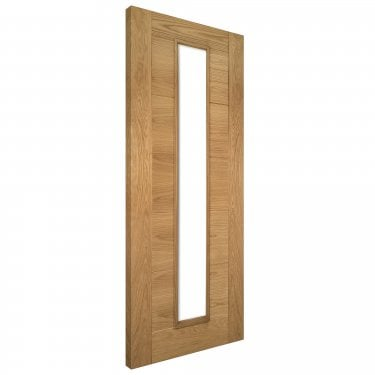 Internal Oak Fully Finished Seville 1L Unglazed Solid FD30 Fire Door (UK16GF/DXFSC)