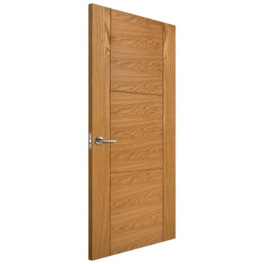 Internal Oak Fully Finished Trent FD30 Fire Door (LIBOAKTREFD)