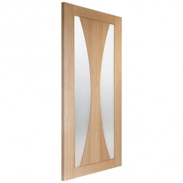 Internal Oak Fully Finished Verona 2L Door with Clear Glass (PFGOVERC)