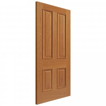 Internal Oak Unfinished Classic Royale E14MN Solid FD30 Fire Door with Raised Mouldings (UOE14MNFD30)