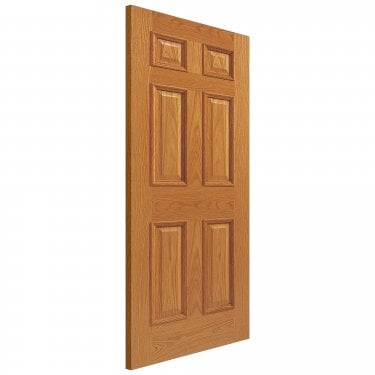 Internal Oak Unfinished Classic Royale E16MN Solid FD30 Fire Door with Raised Mouldings (UOE16MNFD30)