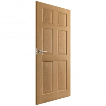 Internal Oak Unfinished Colonial FD30 Fire Door (IO6PFD)
