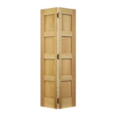 Internal Oak Unfinished Contemporary Bi-Fold Door (BFOCON4P)