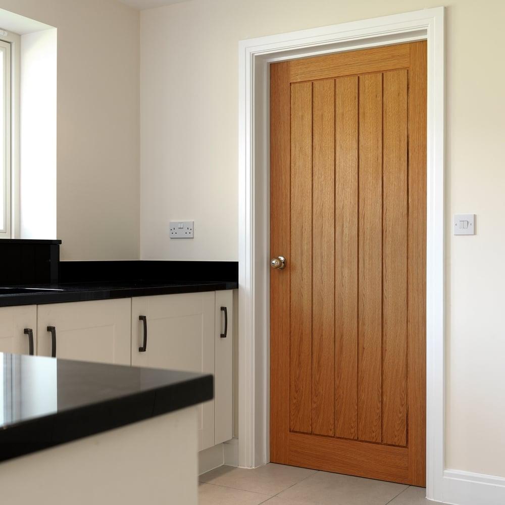 Jb Kind Internal Oak Unfinished Thames Door Leader Doors