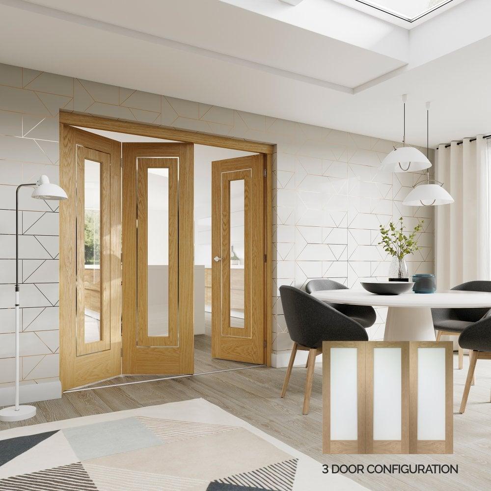 Xl Joinery Internal Oak Unfinished Freefold 3 Door System