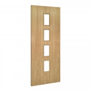 Internal Oak Unfinished Galway 4L Unglazed Door (GALGUNX)