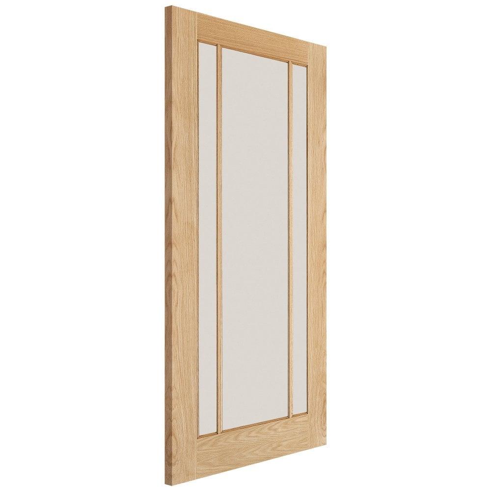 Lpd Internal Oak Unfinished Lincoln Glazed Door Leader Doors