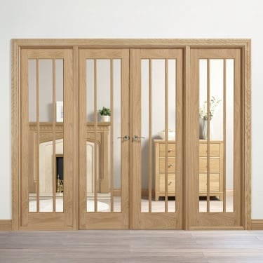 Internal Oak Unfinished Lincoln Room Divider