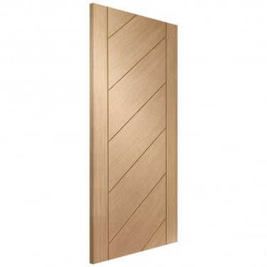 Internal Oak Unfinished Monza FD30 Fire Door (INTOMON-FD)