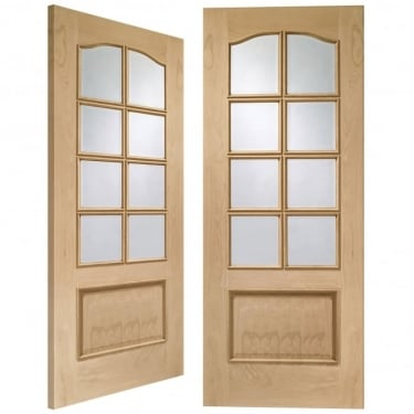 Internal Oak Unfinished Park Lane 16L Pair Door with Clear Bevelled Glass (GOPPARRM)