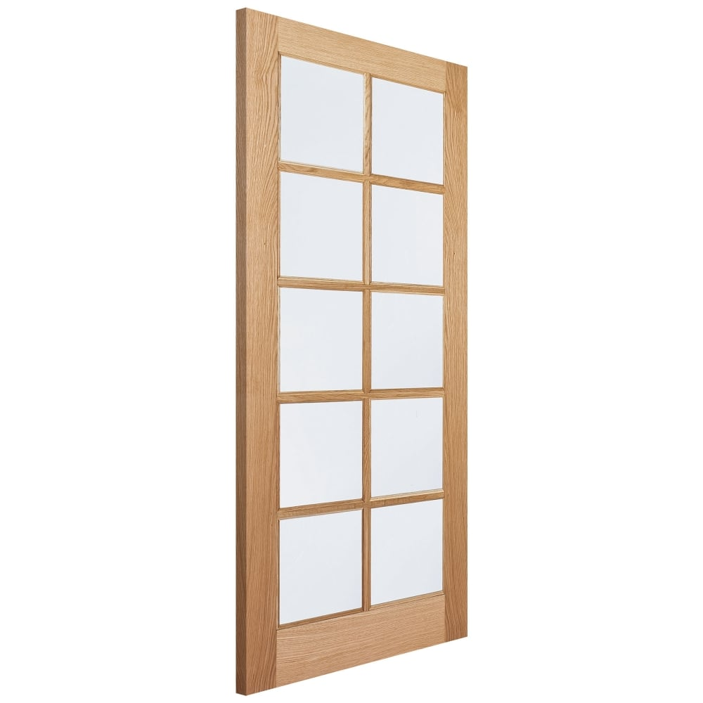 Internal Oak Unfinished SA 10L Door with Clear Glass  sc 1 st  Leader Doors & LPD Internal Oak Unfinished SA 10L Door with Clear Glass | Leader ...