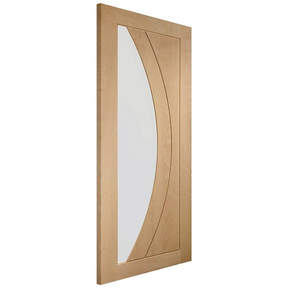Xl Joinery Internal Oak Unfinished Salerno Glazed Door