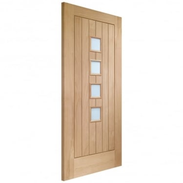 Internal Oak Unfinished Suffolk 4L Door with Obscure Glass (GOSUFC4L)