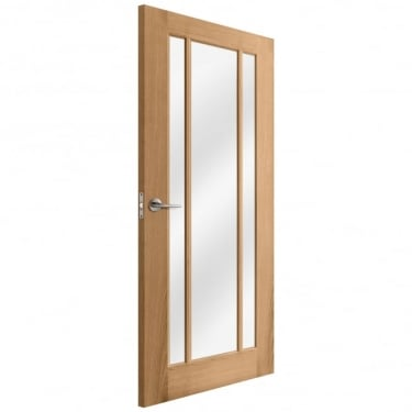 Internal Oak Unfinished Toledo 3L Door with Clear Glass (IOTOLCGL)