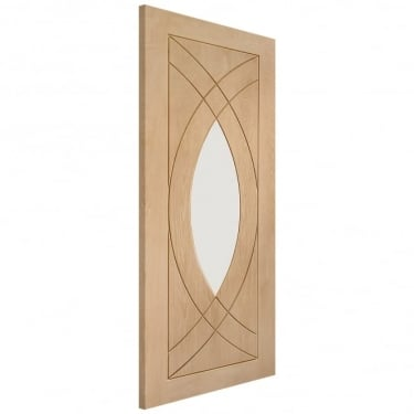 Internal Oak Unfinished Treviso 1L Door with Clear Glass (GOTRE)