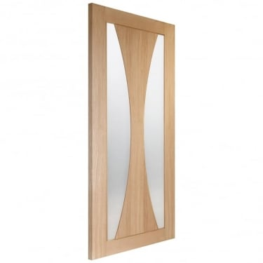 Internal Oak Unfinished Verona 2L Door with Obscure Glass (GOVER)