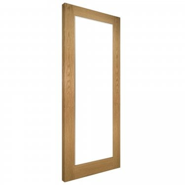 Internal Oak Unfinished Walden 1L Solid Door with Clear Glass (NM6GCUNX)