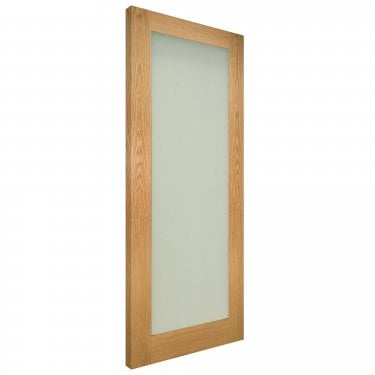 Internal Oak Unfinished Walden 1L Solid Door with Obscure Glass (NM6GFUNX)