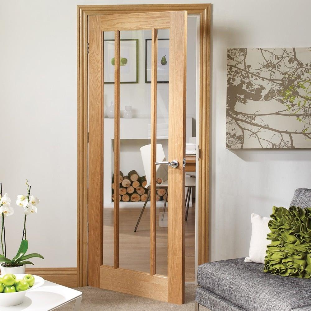 Xl Joinery Internal Oak Unfinished Worcester Glazed Door Leader Doors