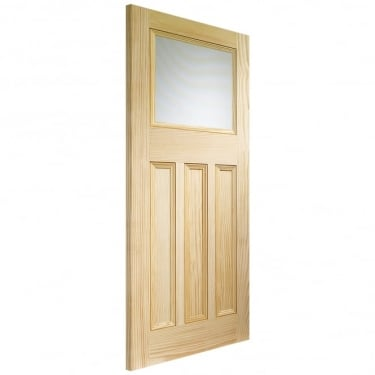 Internal Pine Unfinished DX 1L Door with Obscure Glass (GVGDX)