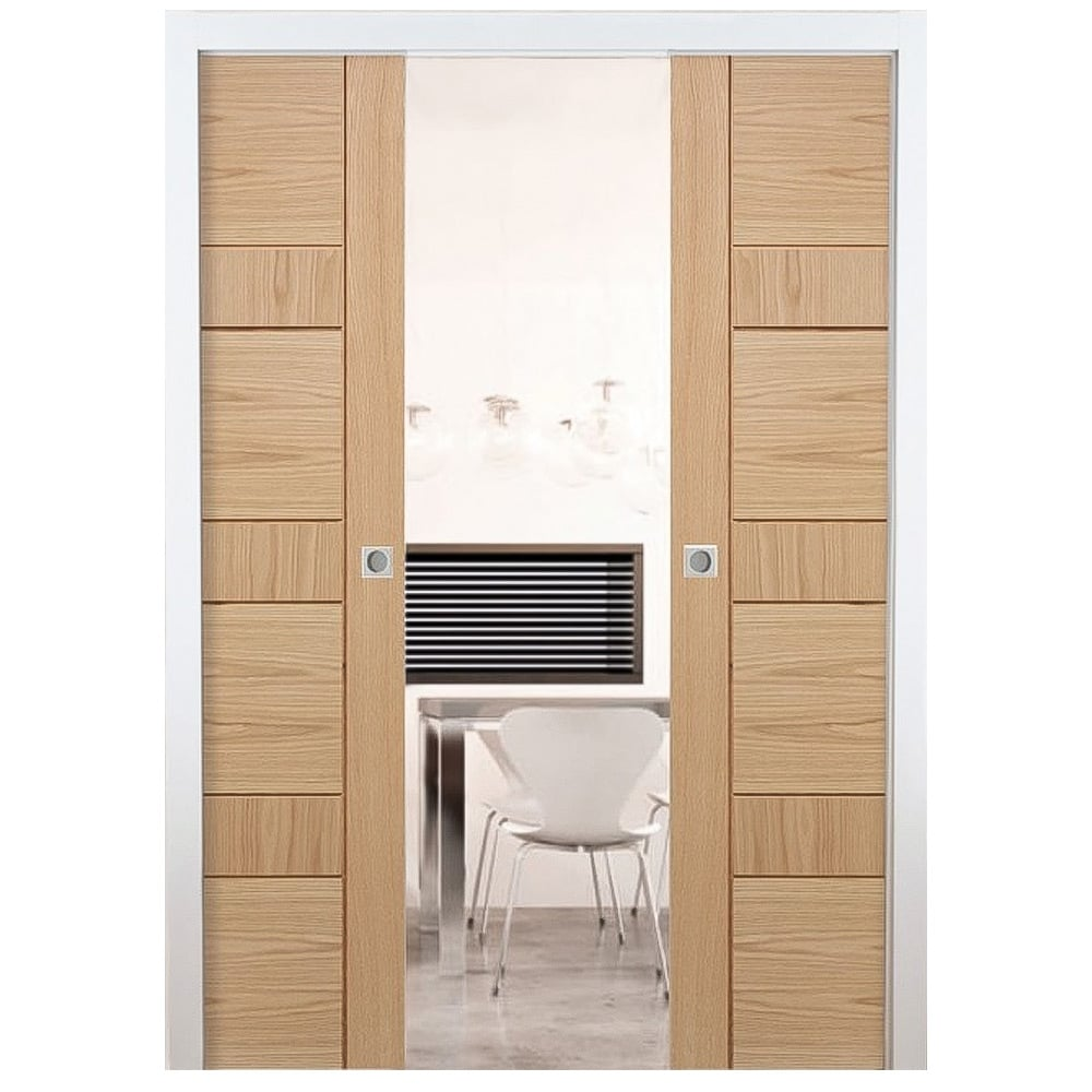 Nice Internal Pocket Double Door System Set
