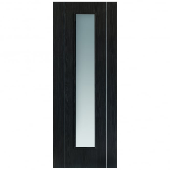 JB Kind Internal Pre-Finished Ash Grey Eco Argento Door With Clear Glass