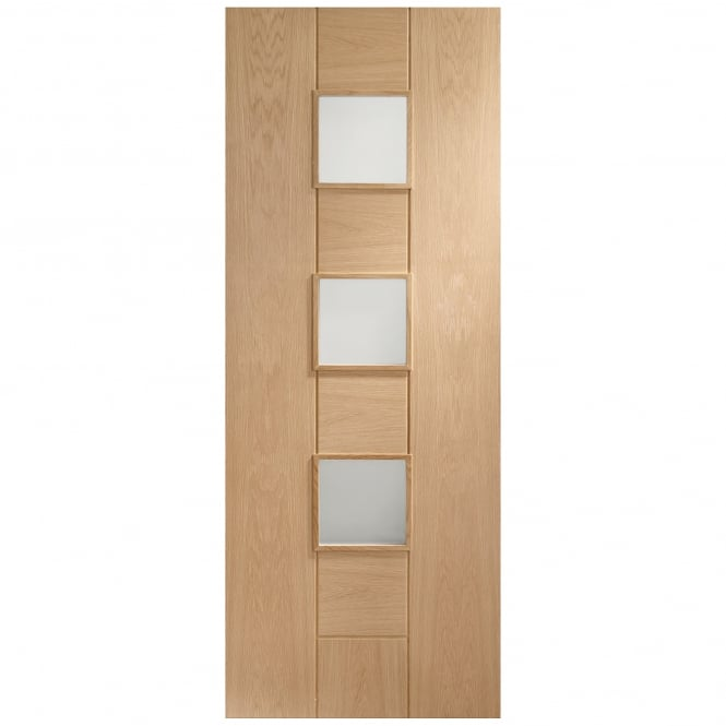 XL Joinery Internal Pre-Finished Oak Messina Door with Clear Glass