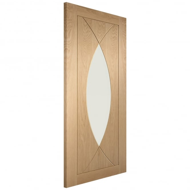 XL Joinery Internal Pre-Finished Oak Pesaro Fire Door with Clear Glass