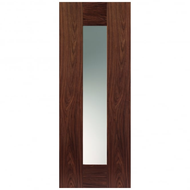 JB Kind Internal Pre-Finished Walnut Symmetry Axis Door With Clear Glass