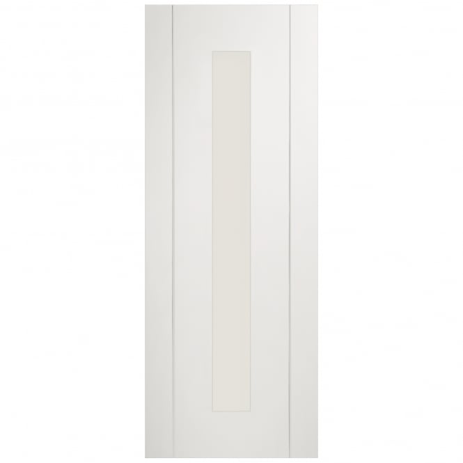 XL Joinery Internal Pre-Finished White Forli Door With Clear Glass