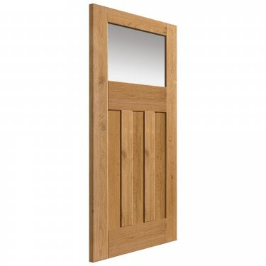 Internal Rustic Oak Fully Finished Cottage DX 1L Solid Door with Obscure Glass (RODXTL)