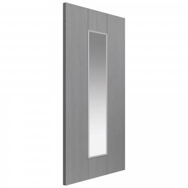 Internal Slate Grey Fully Finished Painted Ardosia 1L Door with Clear Glass (NARDG)