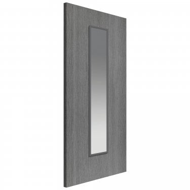 Internal Slate Grey Fully Finished Painted Pintado 1L Door with Clear Glass (NGPINTG)