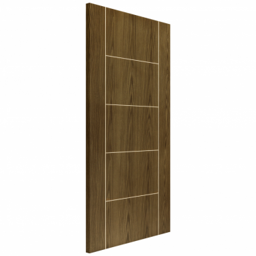 Internal Soft Walnut Fully Finished Painted Mocha FD30 Fire Door (ECMOCHH)