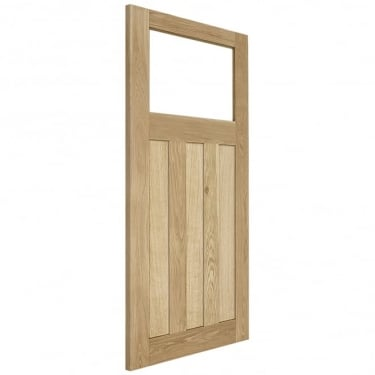 Internal Solid Oak Unfinished 1930u0027s DX 1L Unglazed Solid Door ...